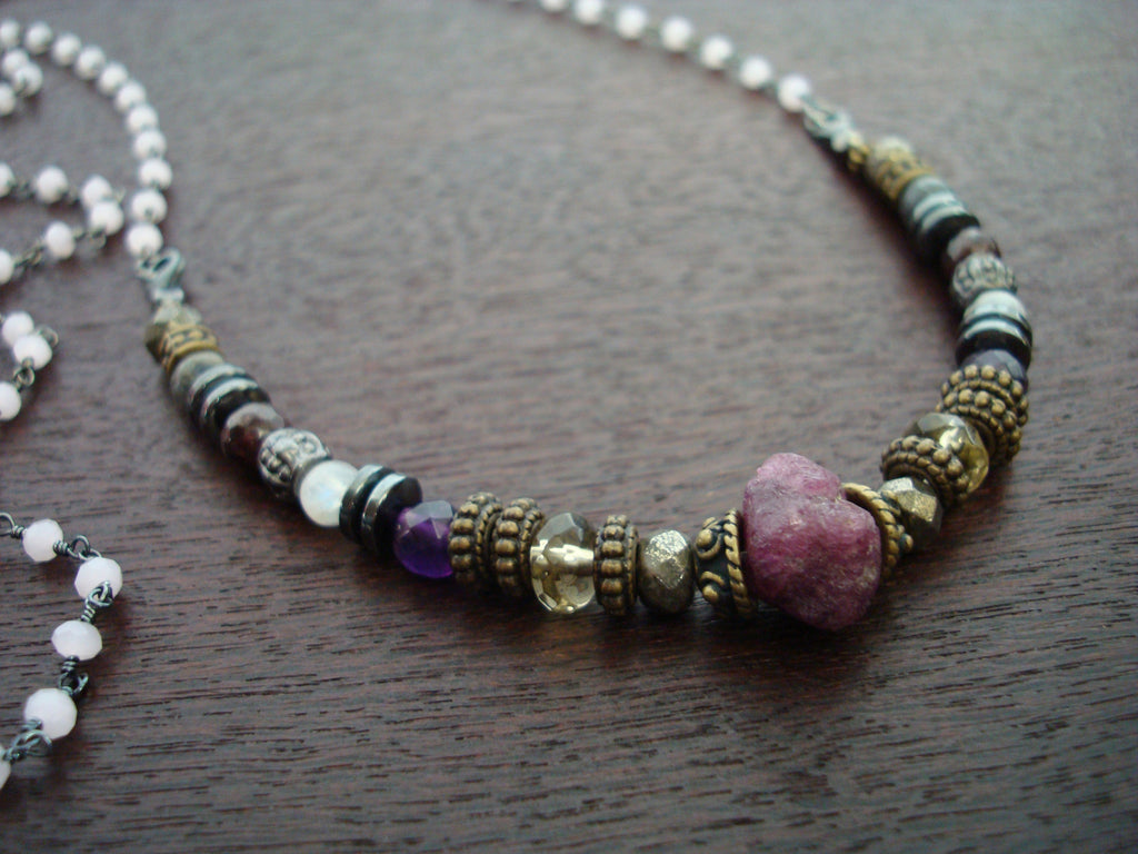 Women's Rose Quartz & Ruby Compassion Mala