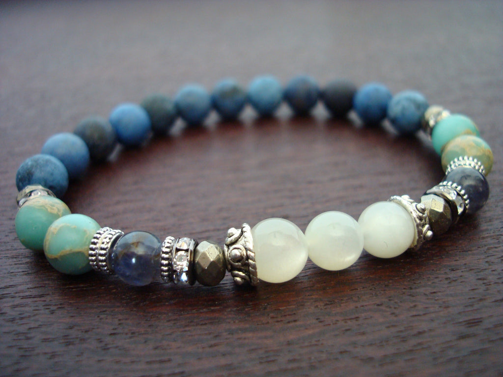 Women's Calm & Clarity Moonstone Mala Bracelet