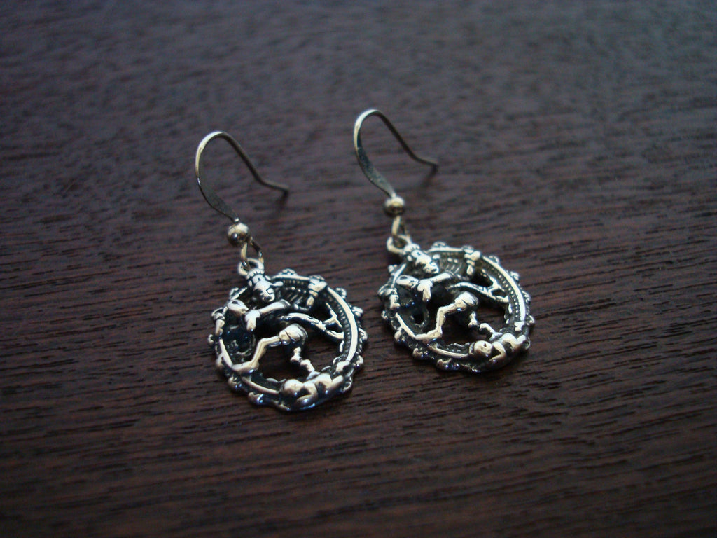 Women's Sterling Silver Cosmic Dancer Shiva Earrings