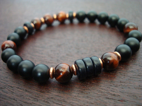 Men's ECO Red Tigers Eye Mala Bracelet