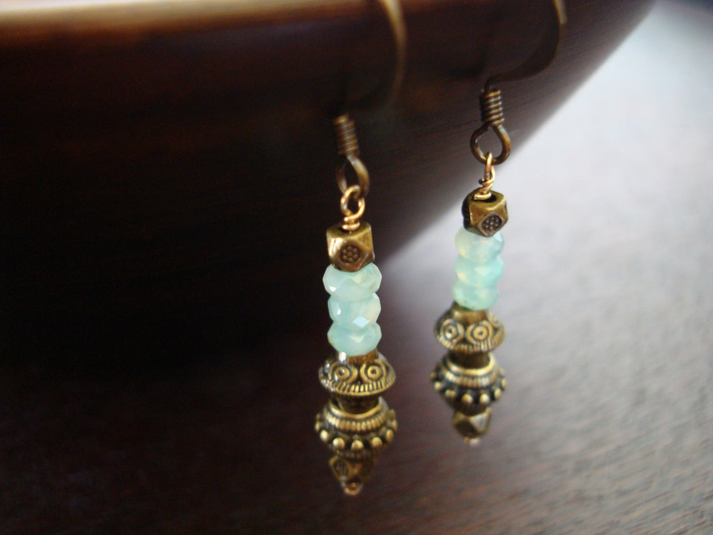 Women's Peruvian Blue Opal Earrings