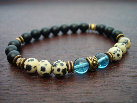 Men's Kyanite Mala Bracelet