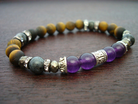 Women's Amethyst Protection & Prosperity Mala Bracelet