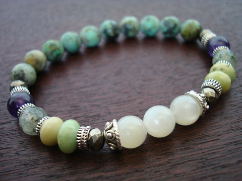 Women's Ultimate Heart & Crown Chakra Mala Bracelet