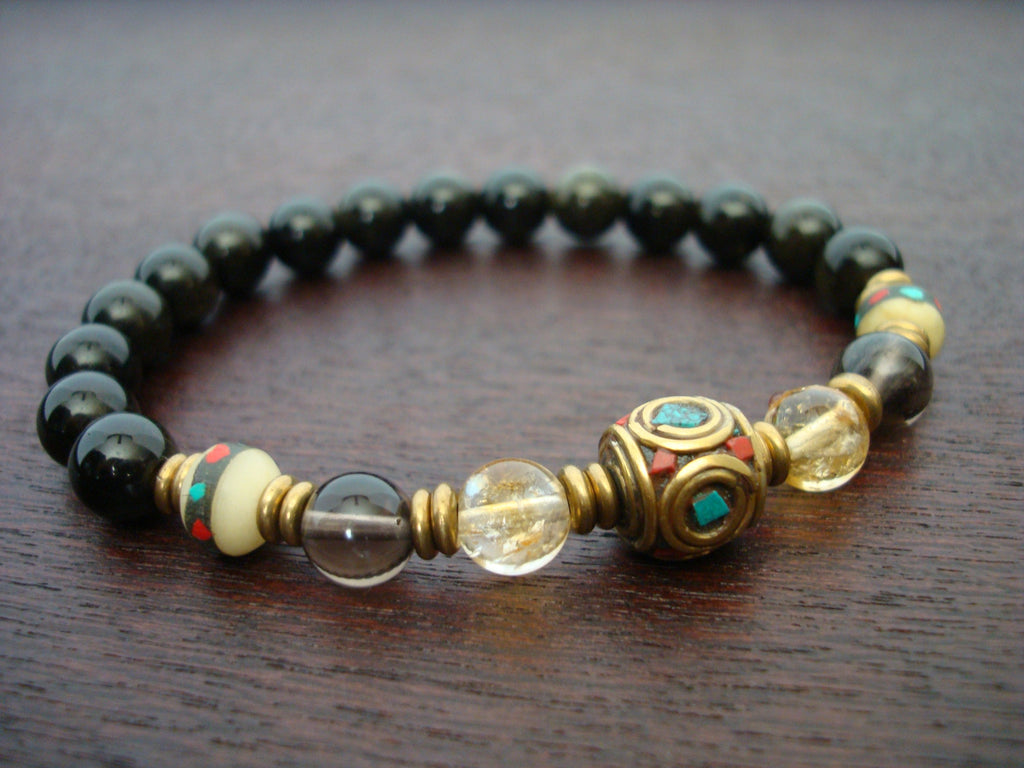 Men's Tibetan Citrine Luck & Fortune Bracelet