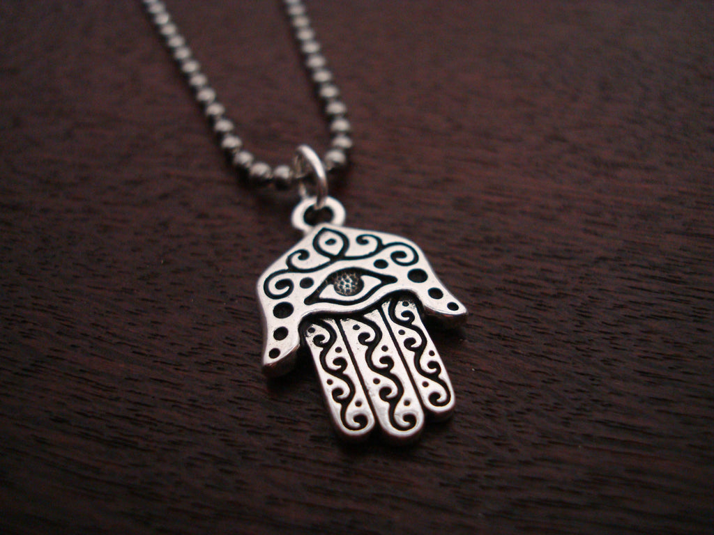 Mens Silver Hamsa Necklace