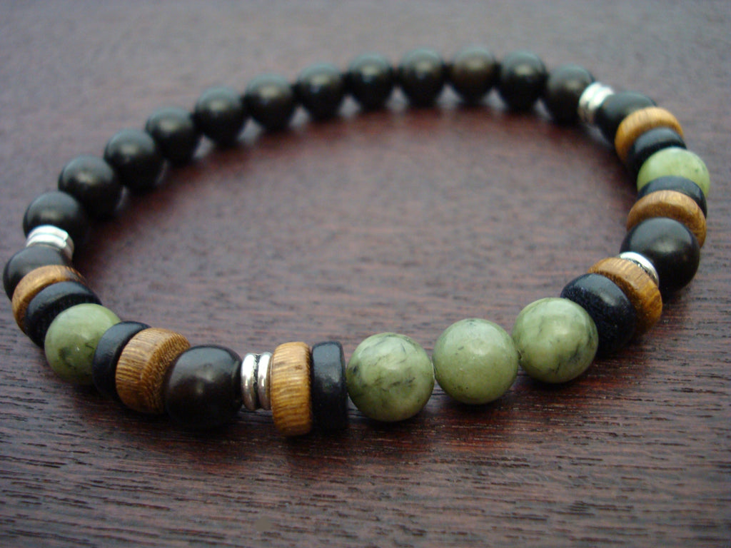 Men's ECO Jade Prosperity Mala Bracelet