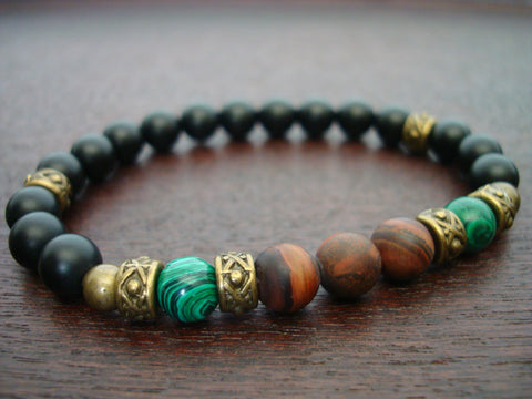 Men's Vitality & Spiritual Growth Mala Bracelet