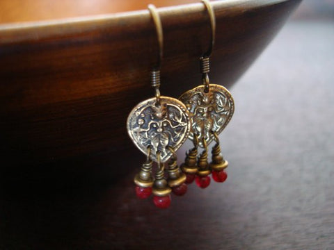 Women's Indian Ruby Shiva Earrings