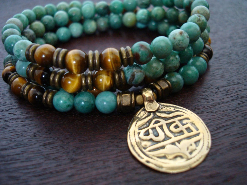 Jade & Tiger's Eye Mala | Choose a Charm