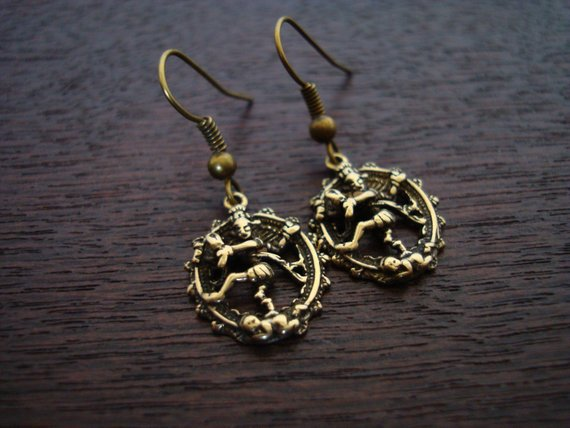 Women's Bronze Cosmic Dancer Nataraj Earrings