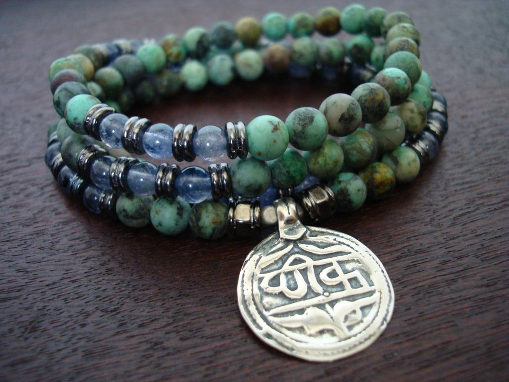 African Turquoise Mala | Choose a Charm