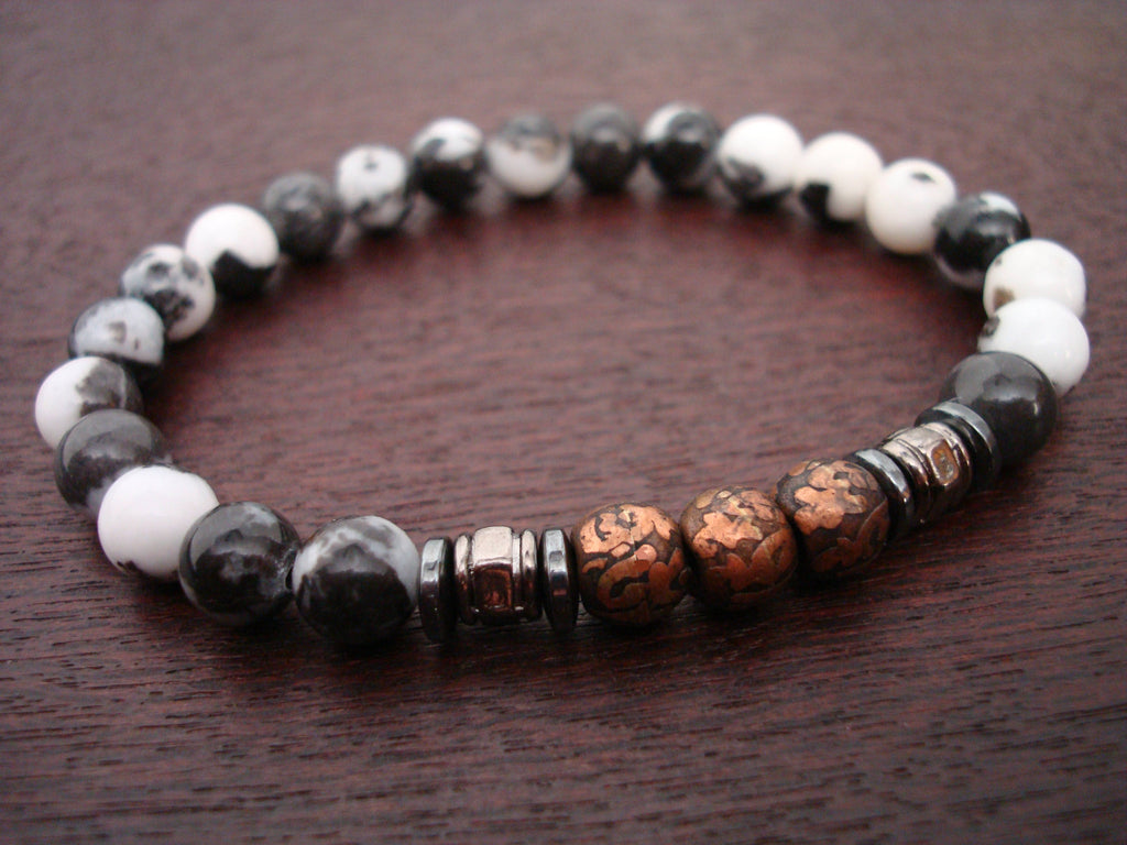 Men's Compassion Mantra Mala Bracelet