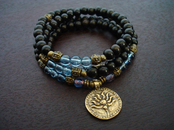 Women's Kyanite Lotus Mala