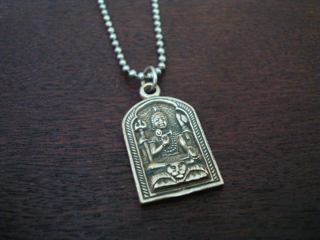 Mens Shiva Om Necklace
