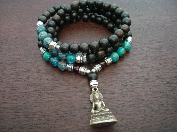 Men's Positivity Buddha Mala