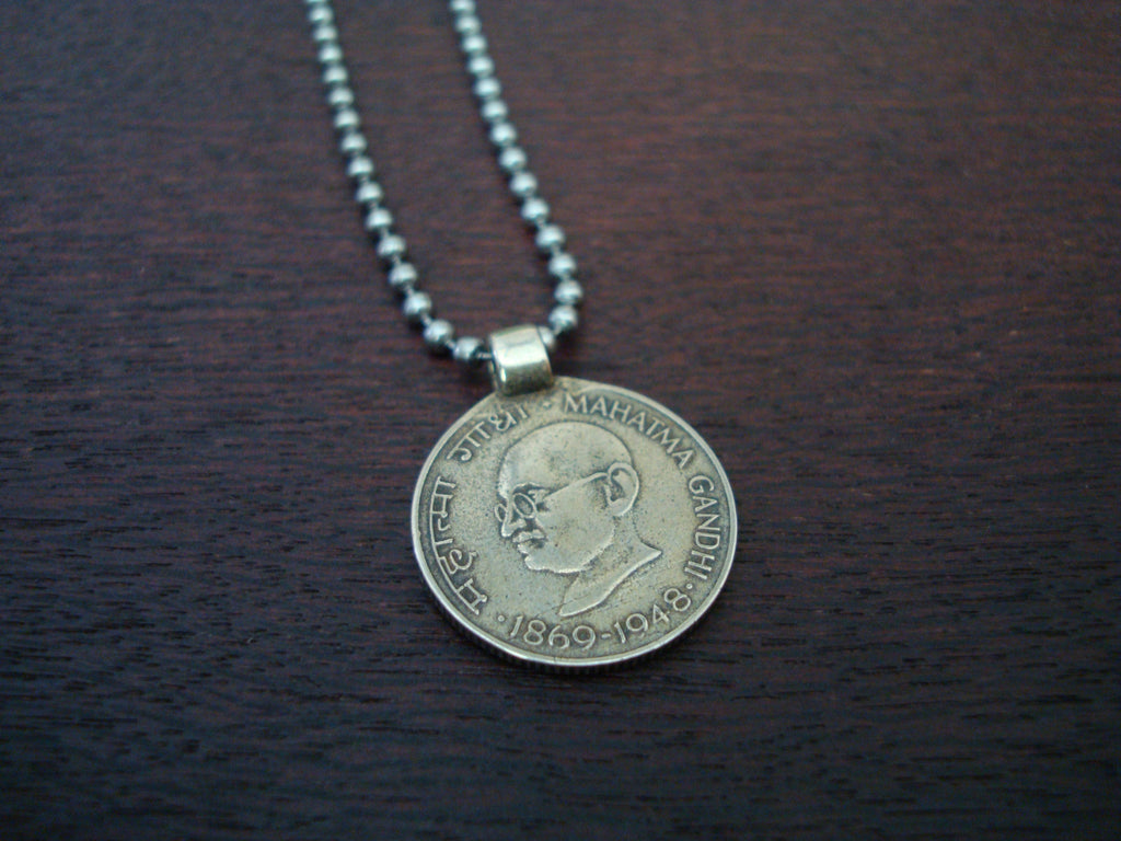 Mens Mahatma Gandhi Necklace