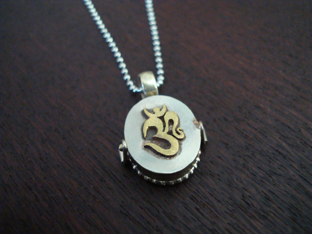 Om Locket Necklace