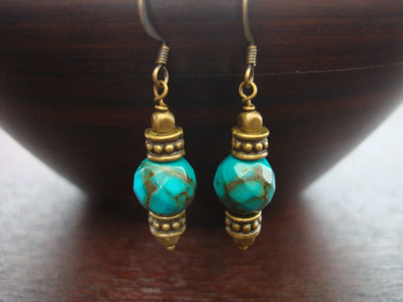 Women's Tibetan Turquoise Earrings