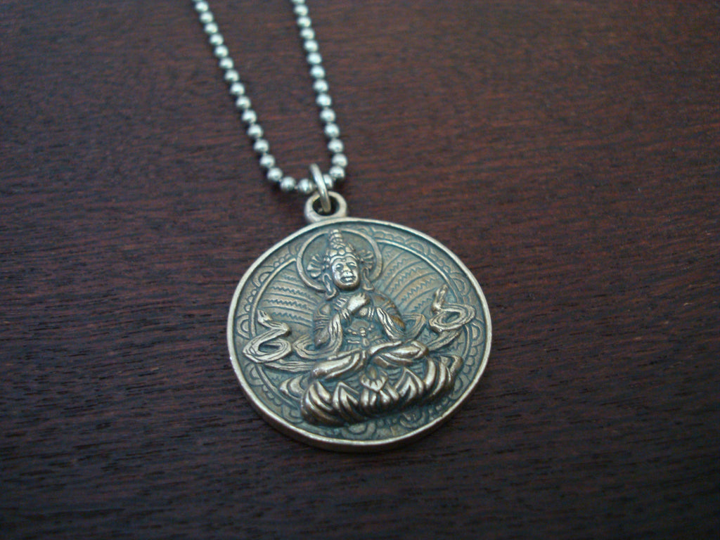 Mens Buddha Yin Yang Necklace