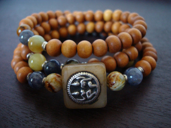 Women's Yellow Jade Shakti Mala