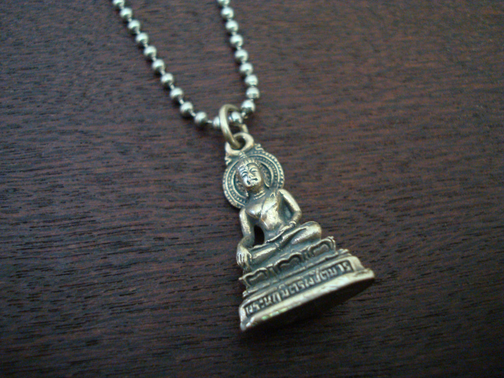 Mens Seated Buddha Necklace