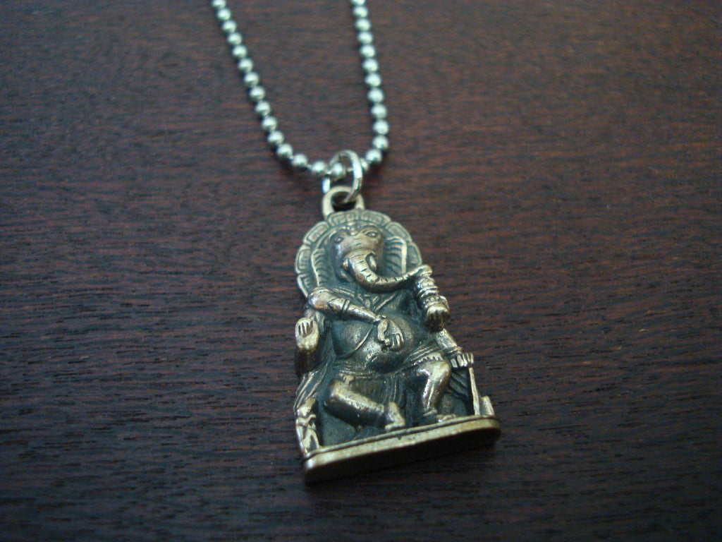 Mens Dancing Ganesha Necklace