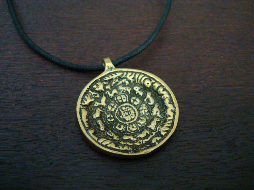 Mens Tibetan Protective Amulet Necklace