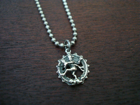 Mens Nataraj Cosmic Dancer Necklace
