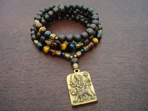 Men's Mixed Tiger's Eye Chakra Mala