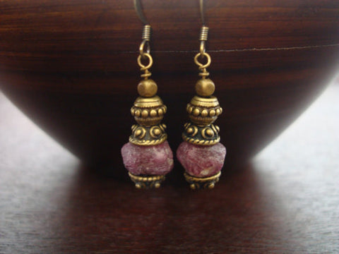 Raw Ruby Compassion Earrings