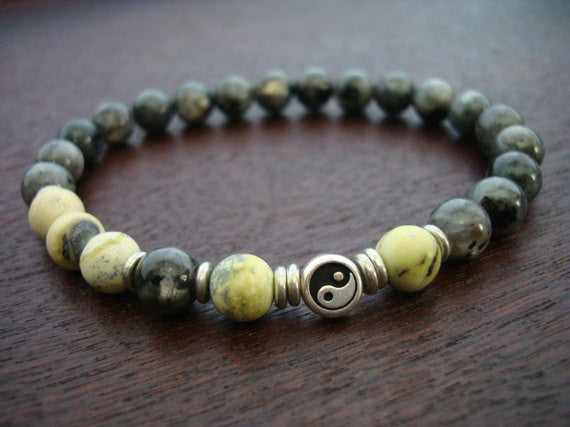 Men's Yellow Turquoise Yin & Yang Bracelet