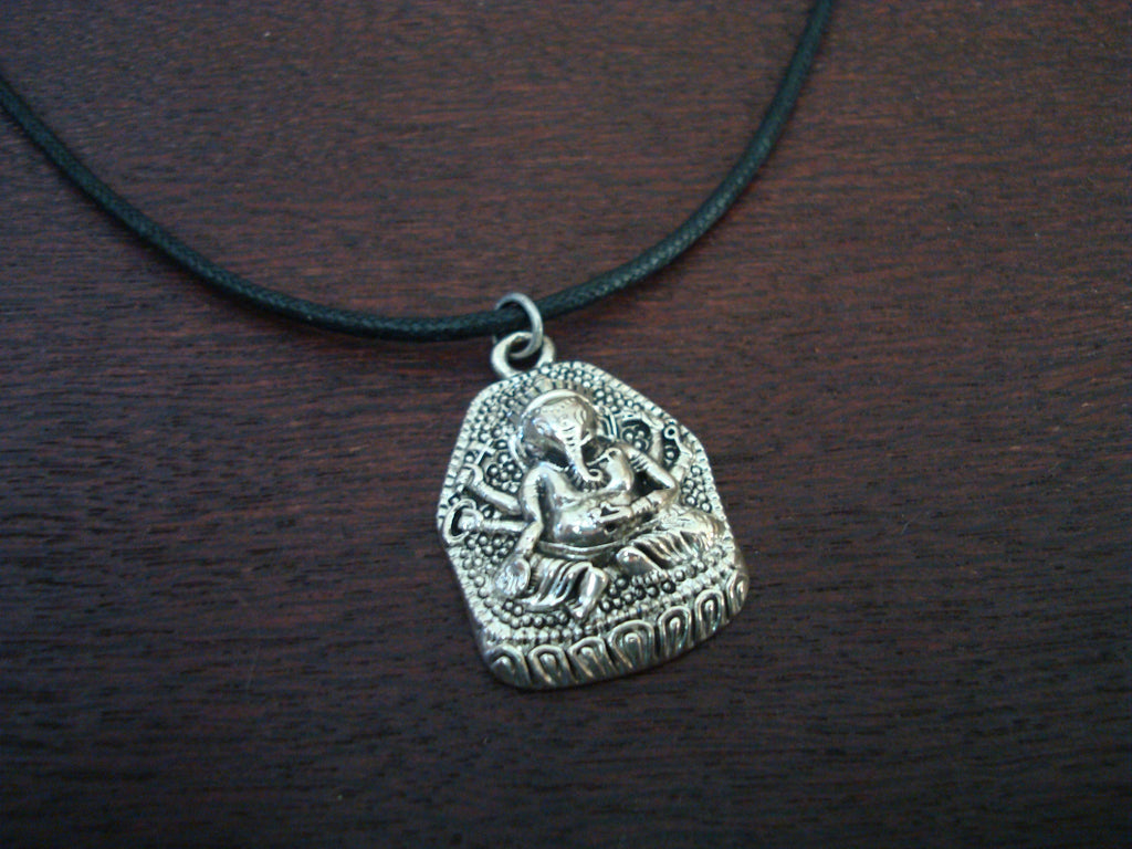 Mens Stainless Steel Ganesha Necklace