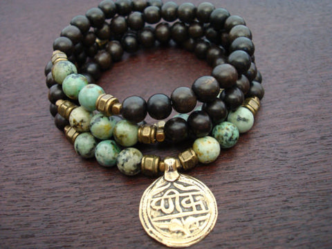 Men's African Turquoise Mala