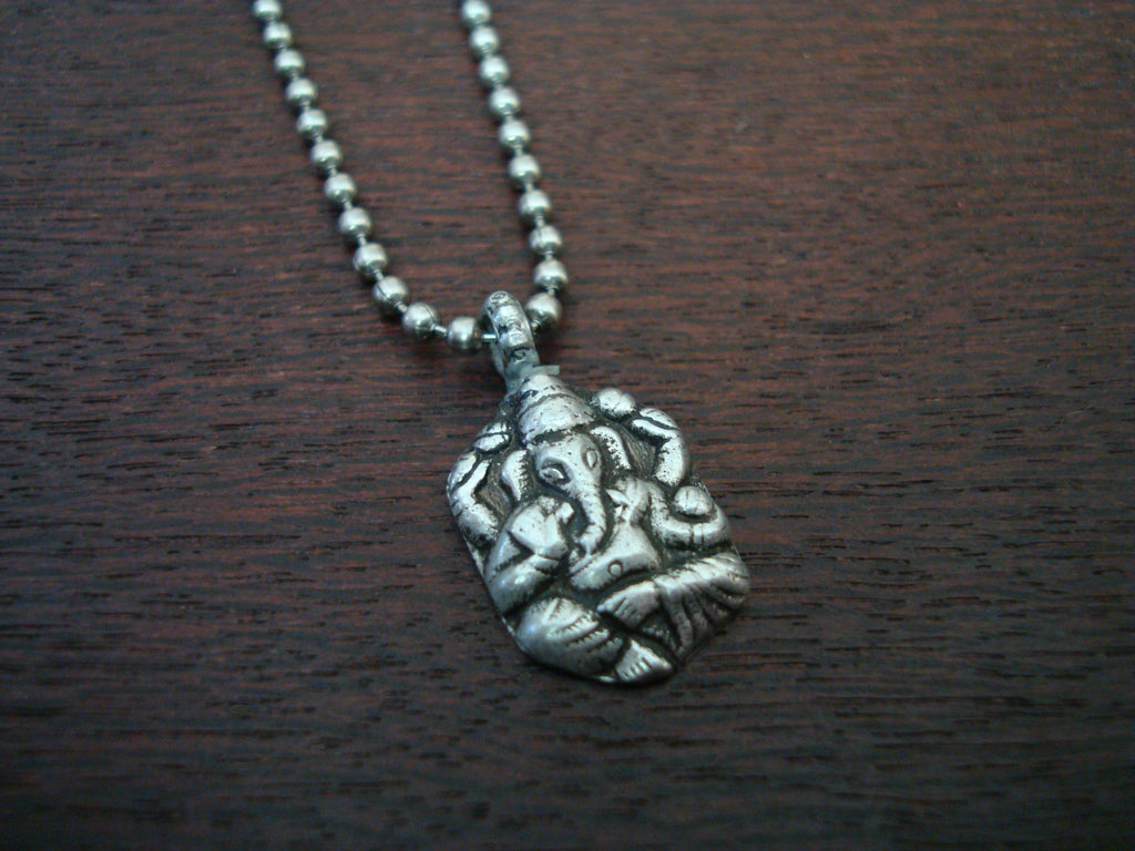Mens Antique Ganesha Necklace
