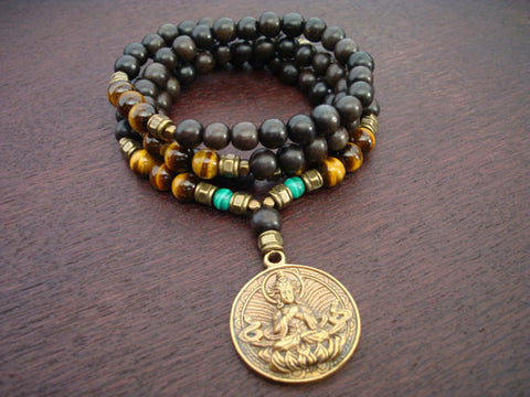 Men's Tiger's Eye Buddha Mala