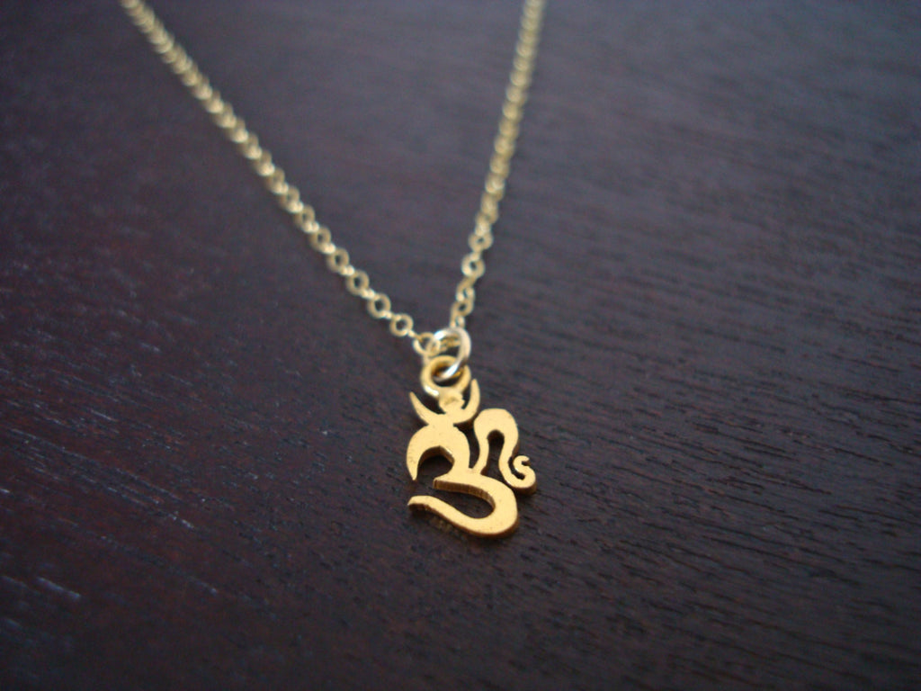 Gold Om Necklace