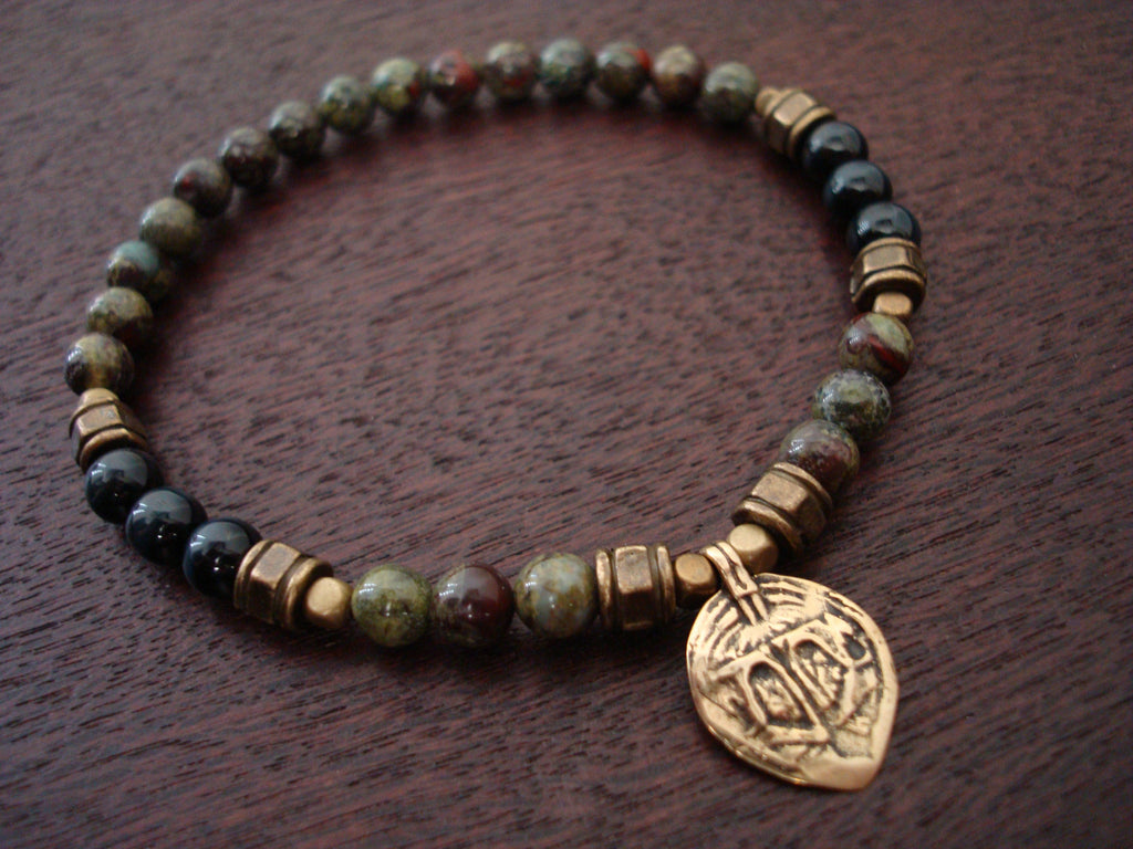 Men's Peace & Change Mala Bracelet