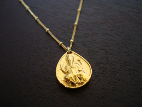 Gold Ganesha Necklace