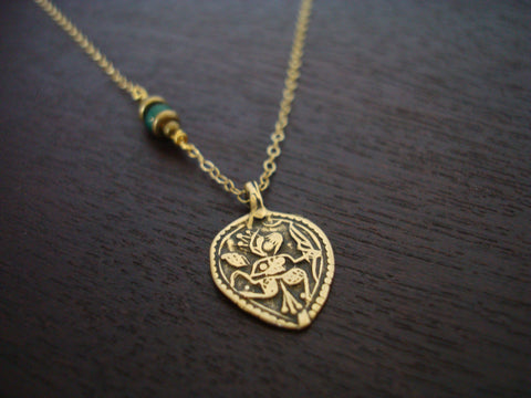 Emerald Heart Messenger Necklace