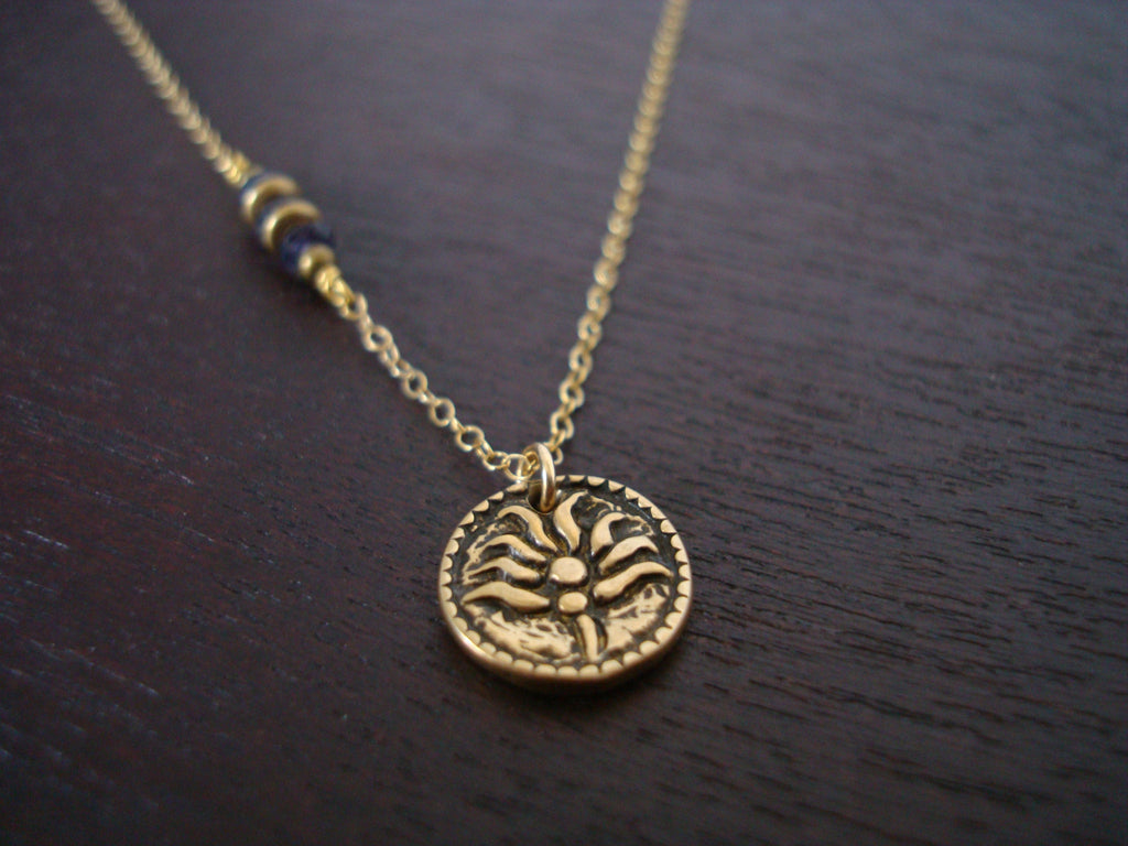 Water Sapphire Lotus Necklace