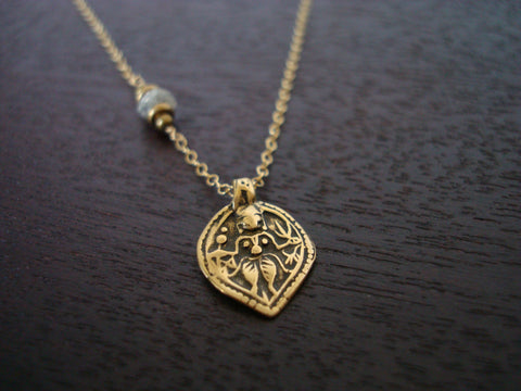 Diamond Shiva Necklace