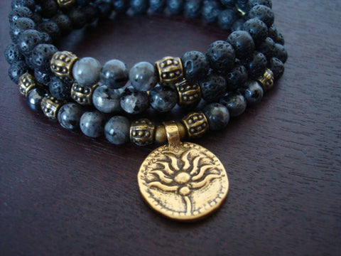 Women's Black Moonstone Intuition Mala