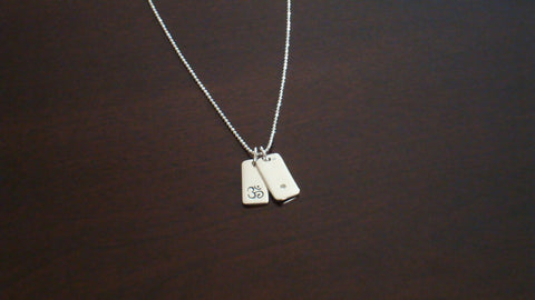 One Point Diamond & Om Necklace