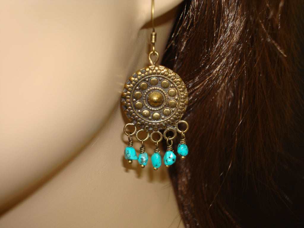 Women's Turquoise Mandala Earrings