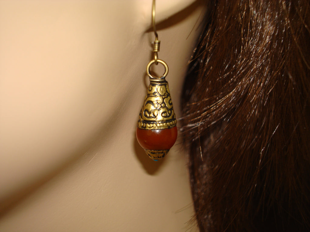 Women's Tibetan Carnelian Earrings