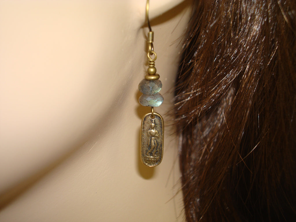 Women's Buddha Labradorite Earrings