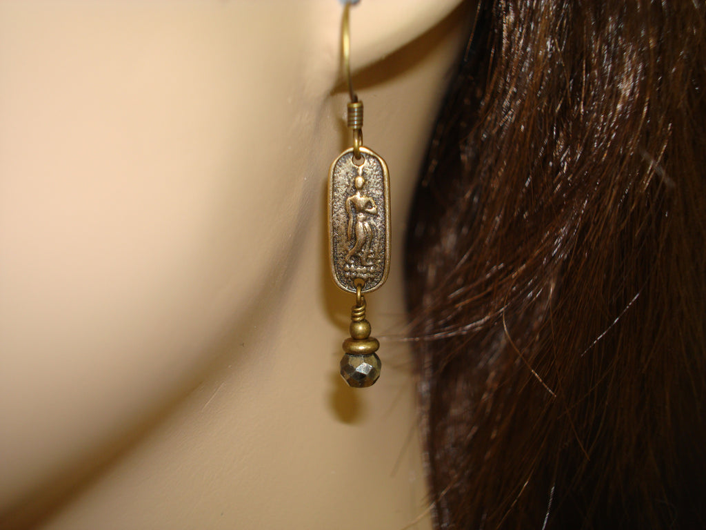 Women's Buddha Pyrite Earrings