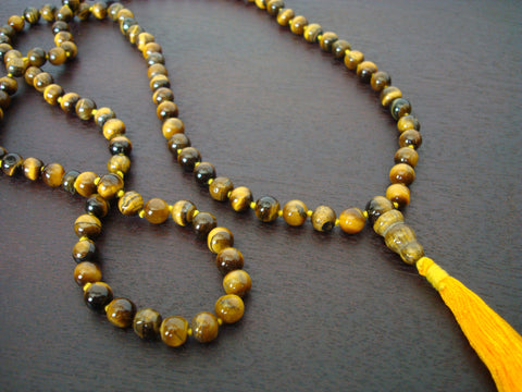 Hand Knotted Tiger's Eye Mala