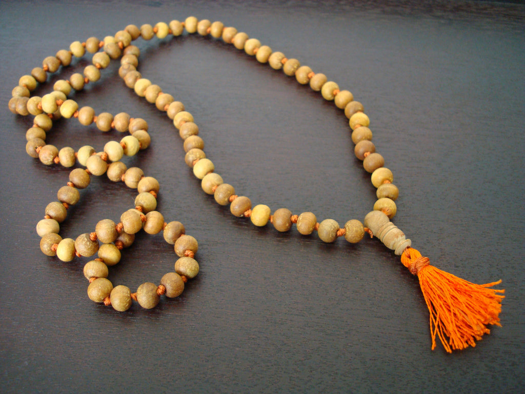 Hand Knotted Indian Sandalwood Mala